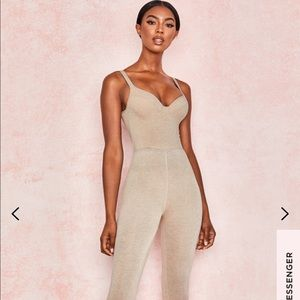 Brand new tags still attached nude jumpsuit